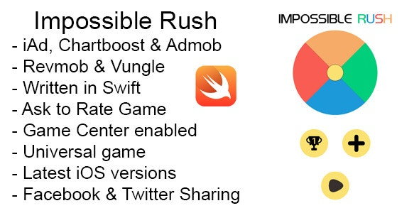 Impossible Rush Swift iOS Game Universal Source - CodeCanyon Item for Sale