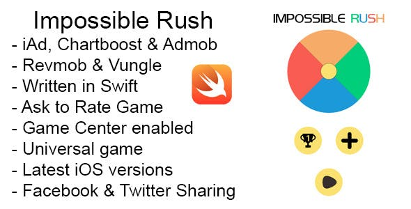 Impossible Rush Swift iOS Game Universal Source