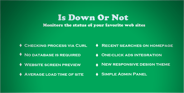 IsDownOrNot? Website Down or Not? - CodeCanyon Item for Sale