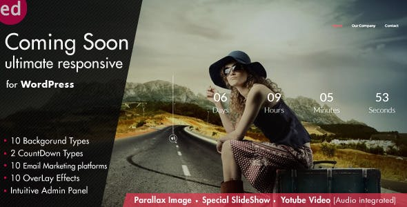 Coming Soon CountDown Responsive Wordpress Plugin