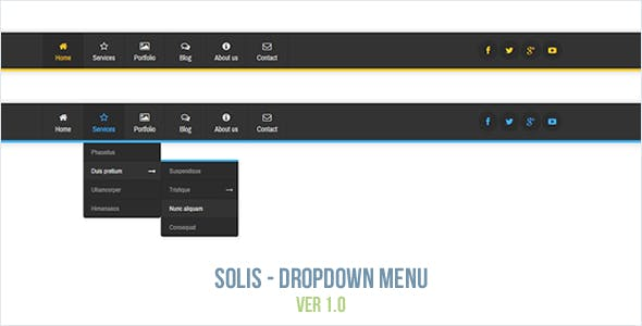 Solis - Dropdown Menu