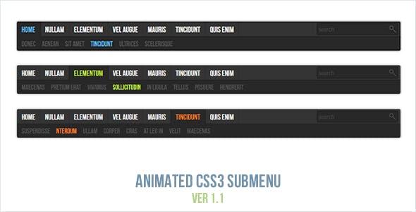 Animated CSS3 Submenu