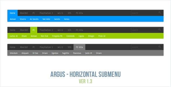 Argus - Horizontal Submenu
