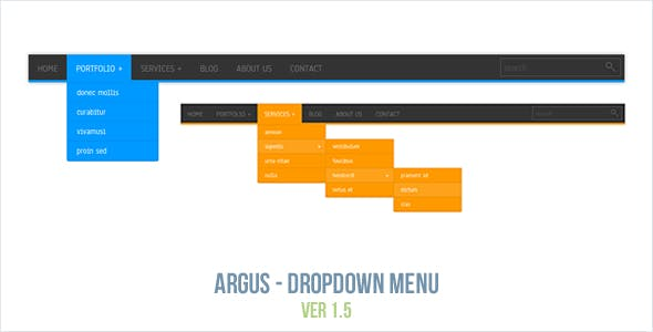 Argus - Dropdown Menu