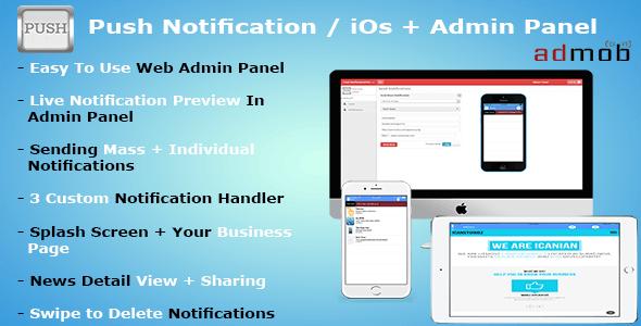 IOS Push Notification | APNs + Admin Panel - CodeCanyon Item for Sale