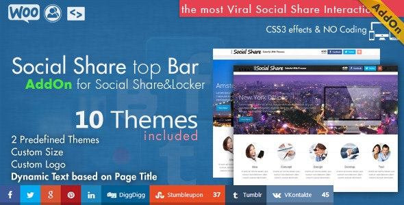 Social Share top Bar AddOn - WordPress - CodeCanyon Item for Sale