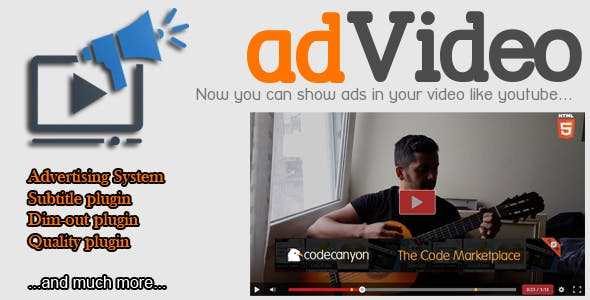 adVideo Player - HTML5 Video Player with Ads