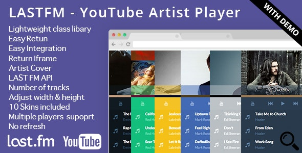 LASTFM - YouTube Artist Player - CodeCanyon Item for Sale