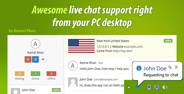 Awesome Live Chat Desk PC - CodeCanyon Item for Sale