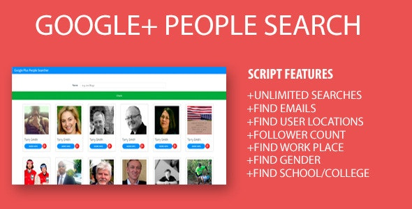 Google Plus People Scraper php - CodeCanyon Item for Sale
