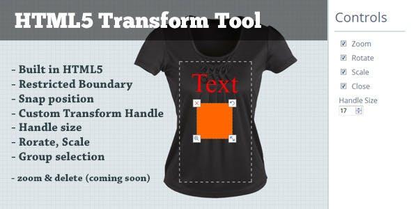 HTML5 Transform Tool