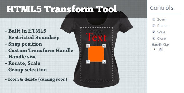 HTML5 Transform Tool - CodeCanyon Item for Sale