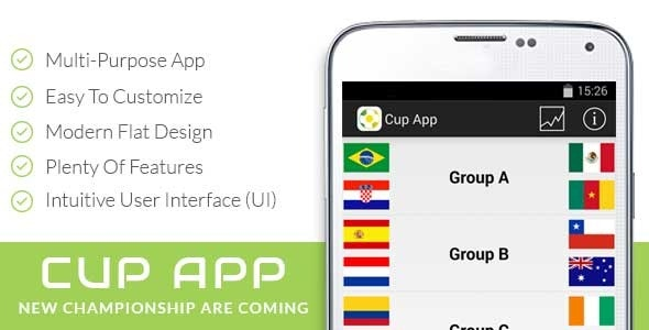 Cup App Template - CodeCanyon Item for Sale