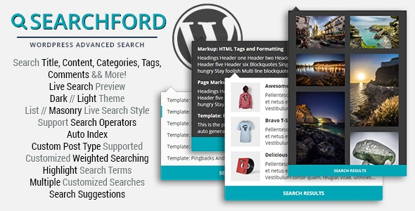 Searchford - WordPress Advanced Search - CodeCanyon Item for Sale