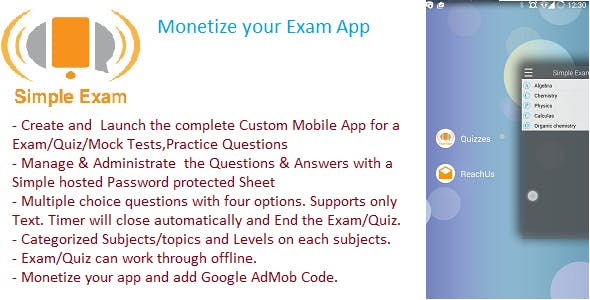 Simple Exam ,Quiz ,Practice Test,Skill Evaluation App