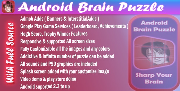 Brain Puzzle + Achievement + Leaderboard + Admob +Share - CodeCanyon Item for Sale