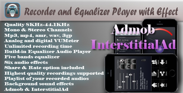 Recorder and Equalizer Player with Effect - CodeCanyon Item for Sale