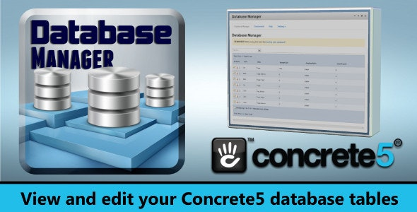Database Manager for Concrete5 - CodeCanyon Item for Sale