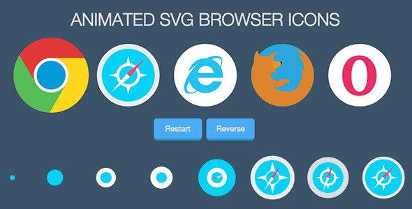 Animated SVG Browser Icons - CodeCanyon Item for Sale