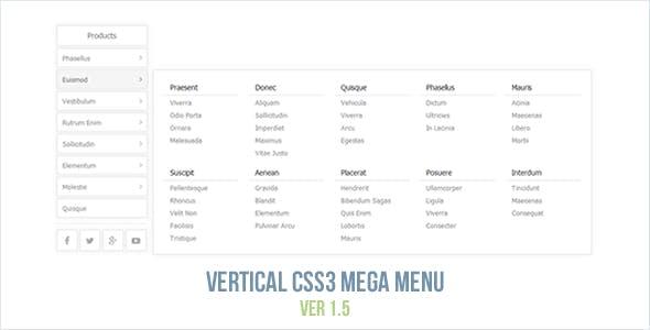 Vertical CSS3 Mega Menu
