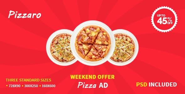 Pizza Offer   HTML5 Google Ad Template