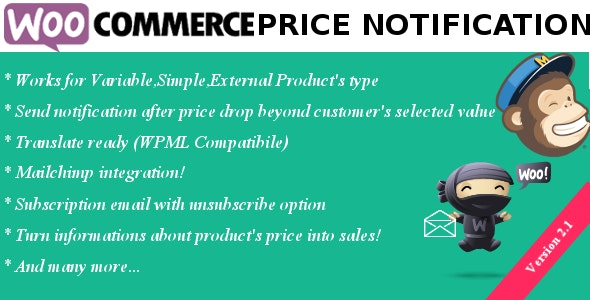 Woocommerce Price Notification - CodeCanyon Item for Sale