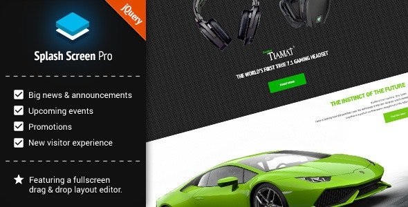 Splash Screen Pro for jQuery - CodeCanyon Item for Sale