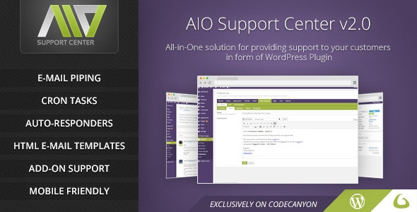 AIO Support Center - WordPress Ticketing System - CodeCanyon Item for Sale
