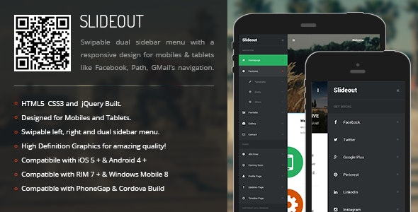Slideout | Sidebar Menu for Mobiles & Tablets - CodeCanyon Item for Sale