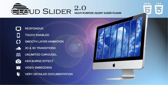 Cloud Slider - Responsive jQuery Slider Plugin - CodeCanyon Item for Sale