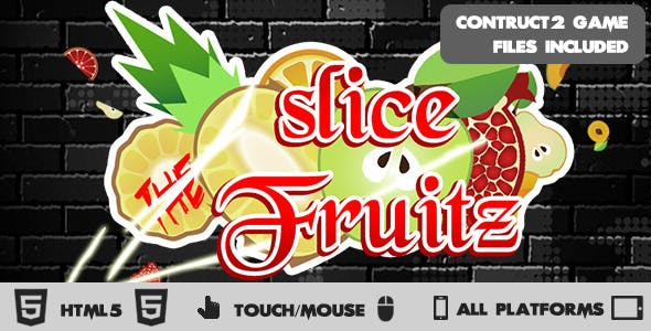 Slice the Fruitz HTML5 Construct 2 Game