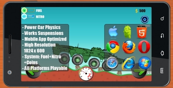 (Car Physics) BTR-80 Construct 2 (Construct 3 | Construct 2 | Capx) - CodeCanyon Item for Sale