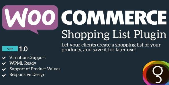 WooCommerce Shopping / Product List
