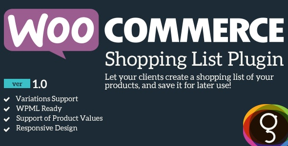 WooCommerce Shopping / Product List - CodeCanyon Item for Sale