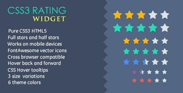 CSS3 Rating Widget - CodeCanyon Item for Sale