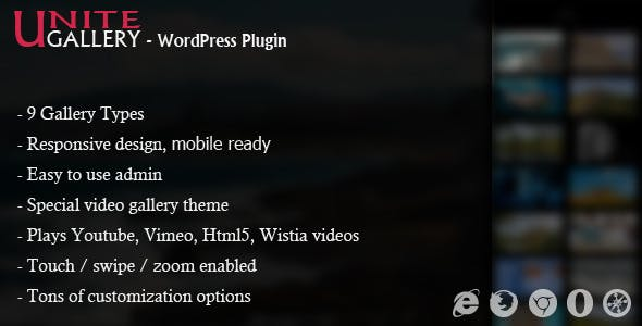 Unite Gallery - Wordpress Gallery Plugin        Nulled