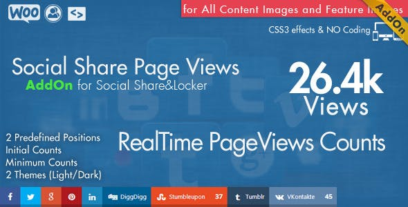 Social Share Page Views AddOn - WordPress - CodeCanyon Item for Sale