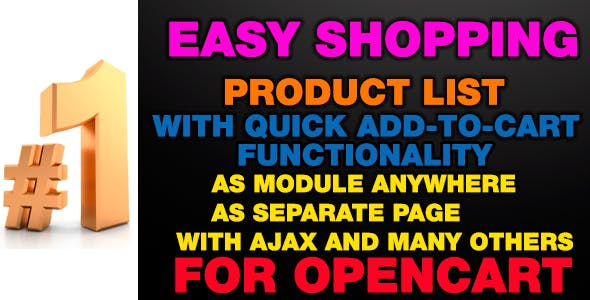 EasyShopping - Product list with quick add-to-cart
