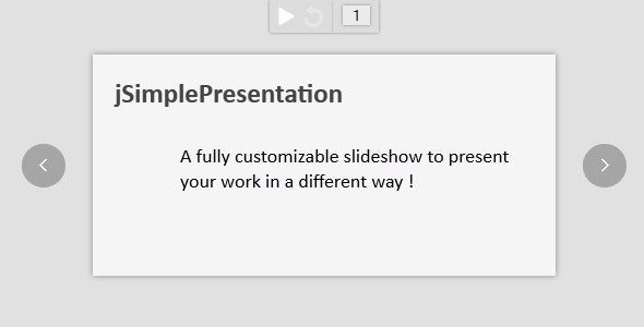 jSimplePresentation - CodeCanyon Item for Sale