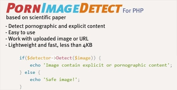 PornImageDetect - Detection of Porngraphic Images - CodeCanyon Item for Sale