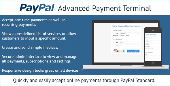 PayPal Advanced Payment Terminal - CodeCanyon Item for Sale