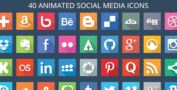 40 Animated SVG Social Media Icons - CodeCanyon Item for Sale