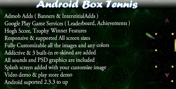 Box Tennis + Leaderboard + Admob + Social Share - CodeCanyon Item for Sale
