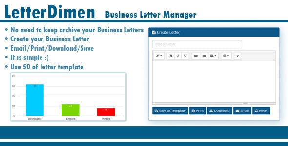 LetterDimen Business Letter Manager