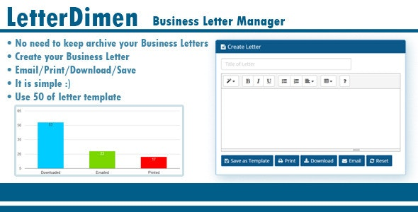 LetterDimen Business Letter Manager - CodeCanyon Item for Sale