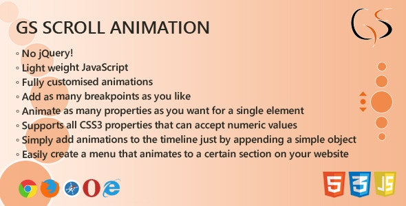 GS Scroll Animate - CodeCanyon Item for Sale