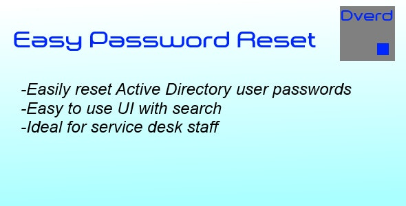 Easy Password Reset - CodeCanyon Item for Sale