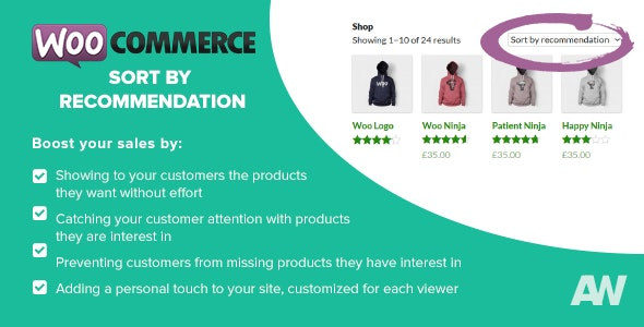 WooCommerce Sort by Recommendation - CodeCanyon Item for Sale