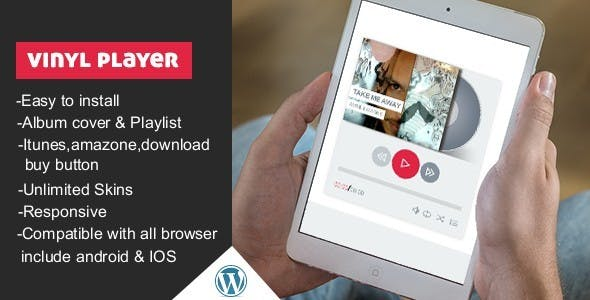 Vinyl WordPress Audio Player With Playlist