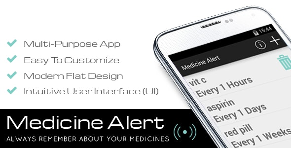 Medicine Alert - CodeCanyon Item for Sale